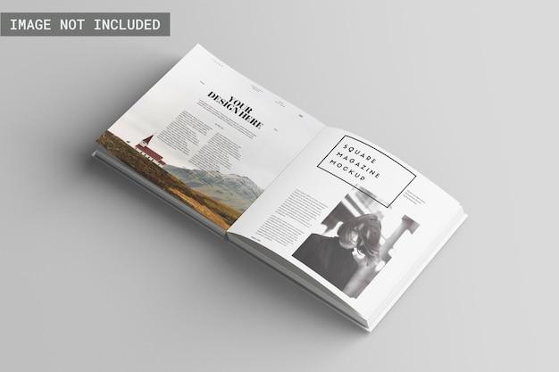Квадратный макет журнала под прямым углом