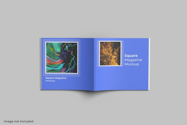 Квадратный макет журнала