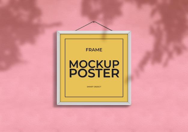 正方形のモックアップポスターテンプレート