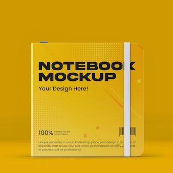 Square notebook mockup