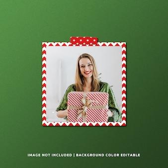 クリスマスのための正方形の紙フレームモックアップ