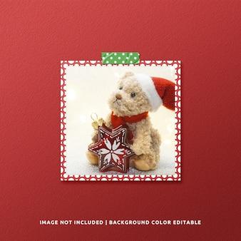 크리스마스를위한 정사각형 종이 프레임 모형