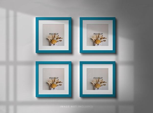 Square photo frame mockup design