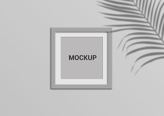 正方形のフォトフレームのモックアップデザイン