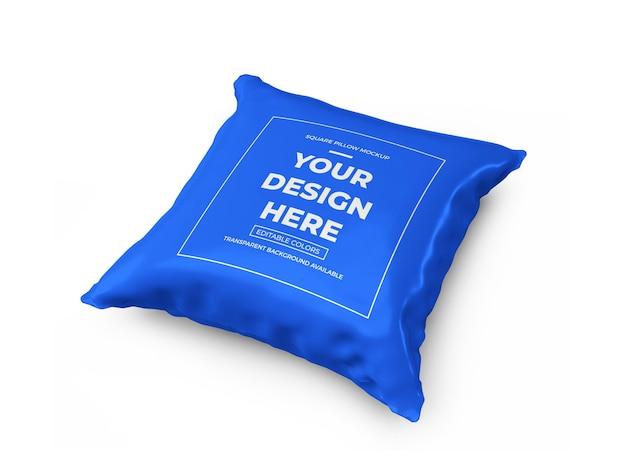 Квадратная подушка 3d иллюстрации дизайн макета изолированные