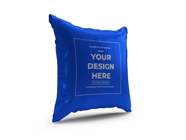分離された正方形の枕3dモックアップデザイン