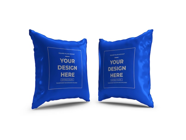 Квадратная подушка 3d mockup