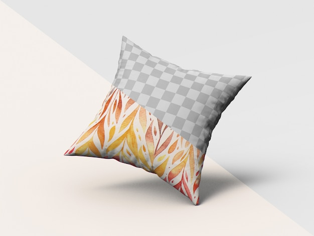 Square pillow mockup