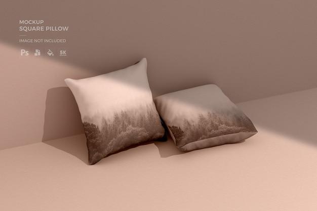 Мокап квадратной подушки