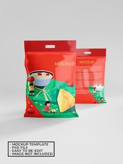 正方形のプラスチック包装