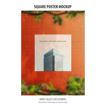 Mockup di poster quadrati