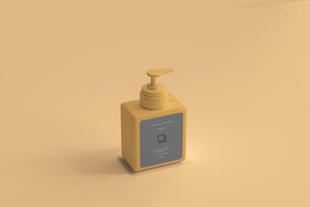 사각 펌프 병 목업