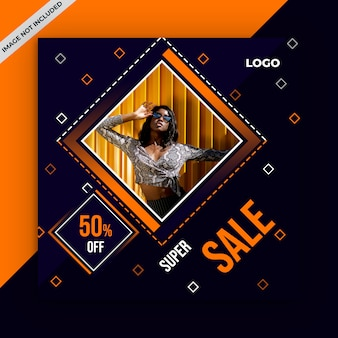 Square sale banner for instagram