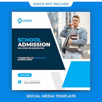 Square school admission back to school clean