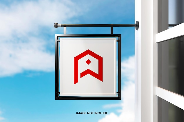 Square signage mockup