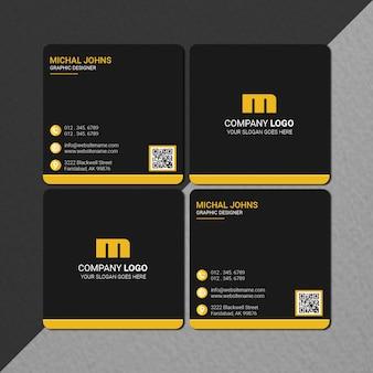 Square size business card design