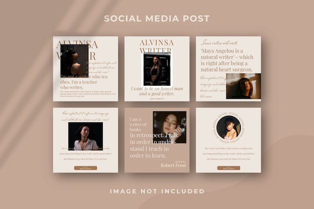 Квадратный шаблон публикации в социальных сетях instagram