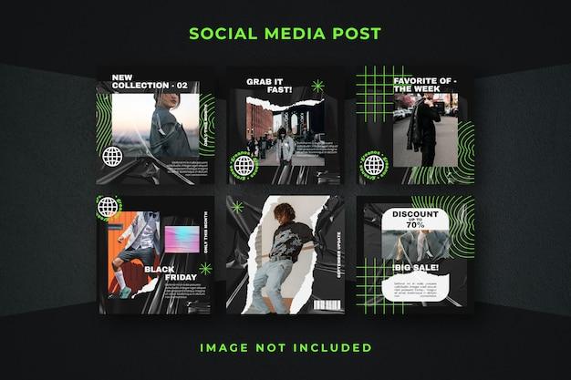 스퀘어 소셜 미디어 게시물 instagram 템플릿