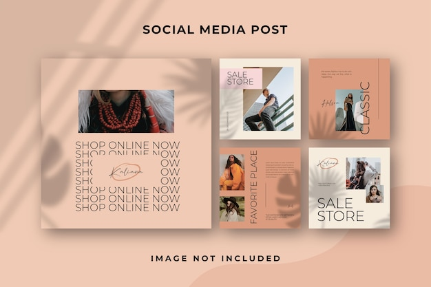 Square social media post instagram template