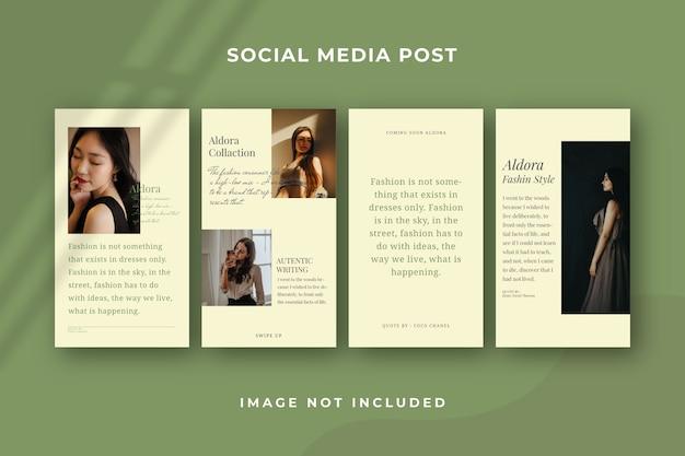 Квадратный шаблон истории в социальных сетях instagram