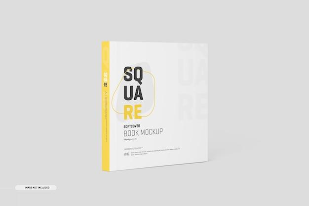Квадратный макет книги в мягкой обложке