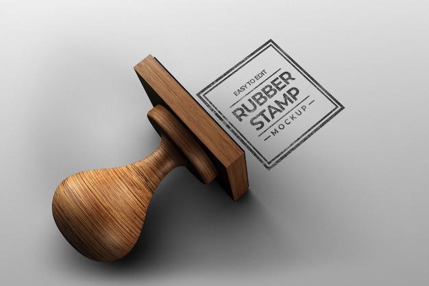 Square stamp mockup design