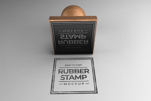 Square stamp mockup