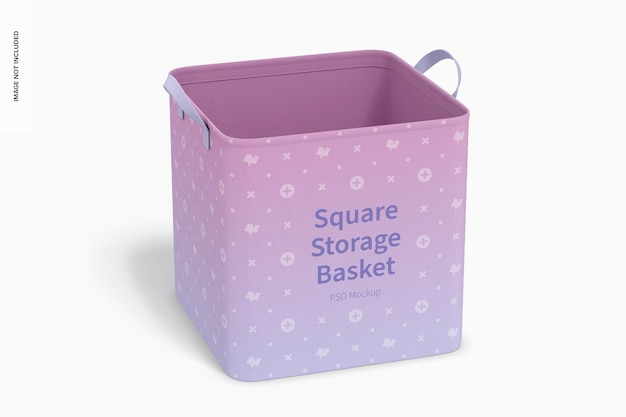 Square storage basket mockup