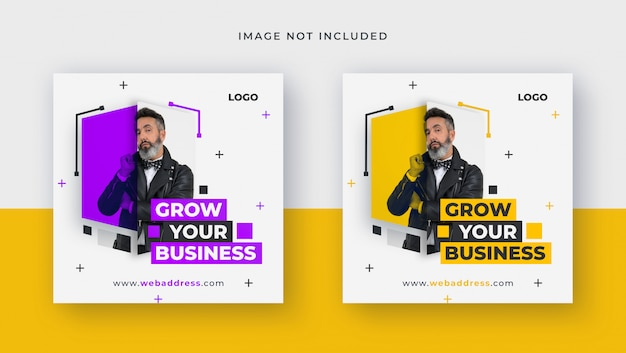 Square template for business for social media post