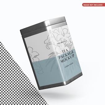 Мокап упаковки квадратных жестяных банок