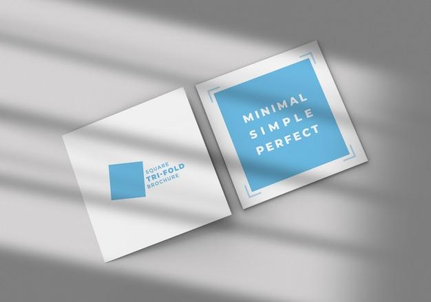 Шаблон макета брошюры square tr-fold