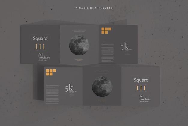 Brochure ripiegabile quadrata mockup