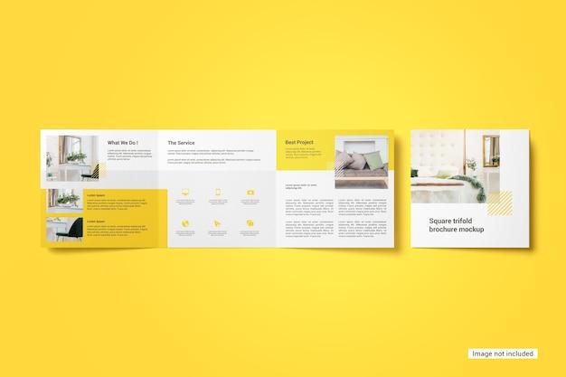 Square trifold brochure mockup