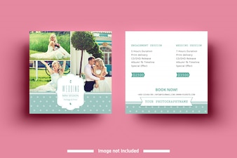Square Wedding Mini Session Template