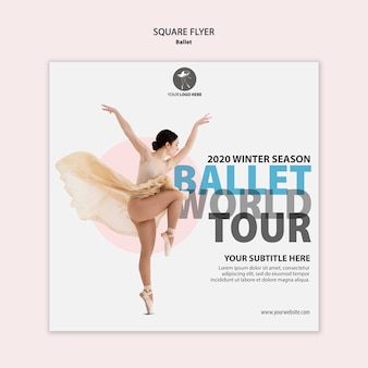 Squared flyer for ballet performance