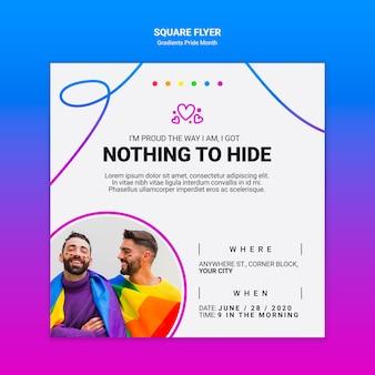 Squared flyer for lgbt pride