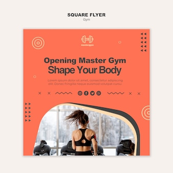 Squared flyer template for gym exercising