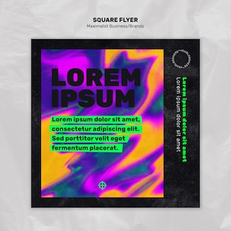 Squared flyer template for maximalist business