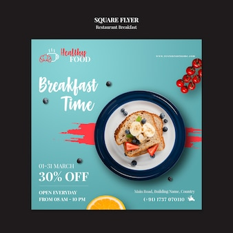 Squared restaurant flyer template