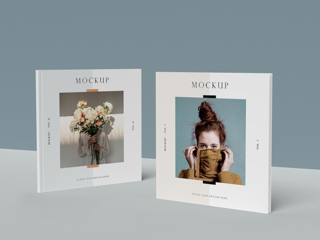 Squares editorial magazine mock-ups