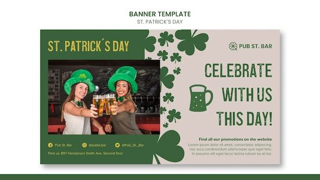 St. patrick's day banner template