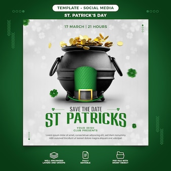 St. patrick's day party template for celebration