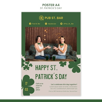 St. patrick's day poster template