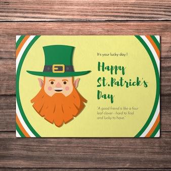 Макет творческой поздравительной открытки для дня st patricks