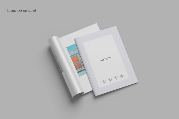 Stack brochure mockup for your project