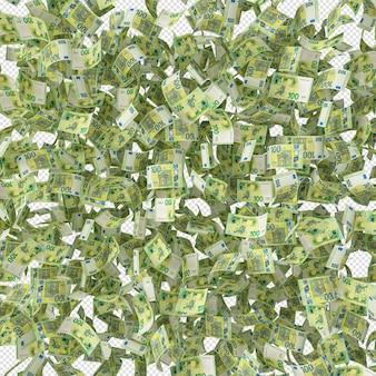 Стек 100 евро банкноты деньги 3d визуализации