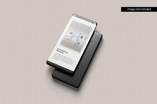 Stack smartphone mockup Premium Psd