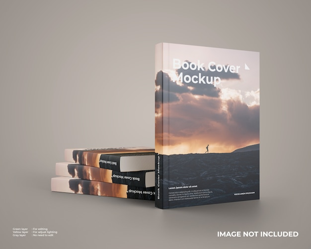 Stacked softcover book mockup
