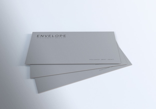 Stacking monarch envelope mockup