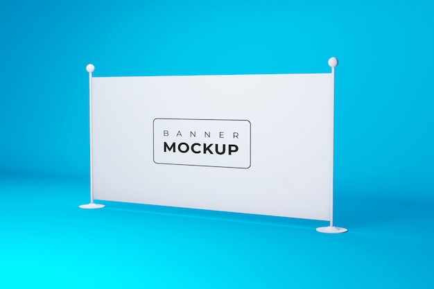 Stage advertising boards and banners mockup Premium Psd